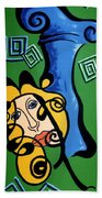Picasso Influence With A Greek Twist Bath Towel