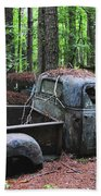 Pick Up Truck In The Woods Bath Towel