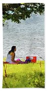 Picnic And Fishing Bath Towel