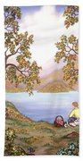 Picnic By A Lake Hand Towel