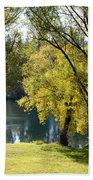 Picnic Spot On Spokane River Bath Towel