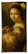 Picture Of A Young Girl Bath Towel