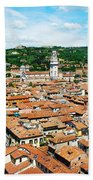 Picturesque Cityscape Of Verona Italy Bath Towel