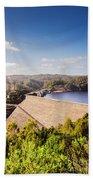 Picturesque Hydroelectric Dam Bath Towel