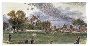 Pigeon Hunting, C1875 Bath Towel