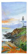 Pigeon Point Sunset Bath Towel