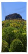 Pilot Mountain In Spring Green Bath Towel