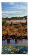 Pine Barrens Bog In New Jersey Bath Towel