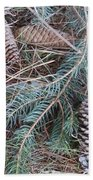 Pine Cone Brush Bath Towel