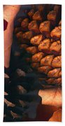 Pine Cones And Leaves Bath Towel