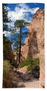 Pine Tree Canyon Bath Towel