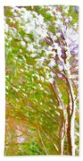 Pine Tree Covered With Snow Hand Towel