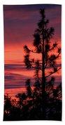 Pine Tree Sunrise Bath Towel