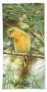 Pine Warbler Bath Towel