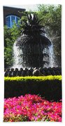 Pineapple Fountain Charleston Sc Bath Towel