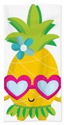 Pineapple Hula Bath Towel
