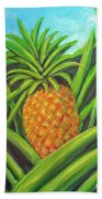 Pineapple Painting #332 Bath Towel