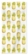 Pineapple Print Bath Towel