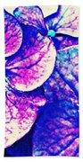 Pink And Blue Hydrangea Bath Towel