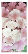 Pink And Green Blossoms Bath Towel