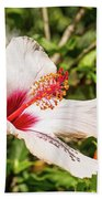 Pink And Red Hibiscus Bath Towel
