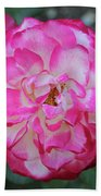 Pink And White Rose Square Bath Towel