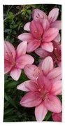 Pink Asiatic Lilies 2 Bath Towel