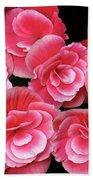 Pink Begonias Bath Towel