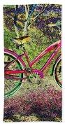 Pink Bicycle Bath Towel
