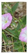 Pink Bindweed Bath Towel