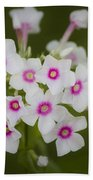 Pink Bright Eyes Garden Phlox Bath Towel