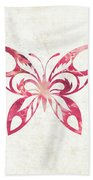 Pink Butterfly Bath Towel