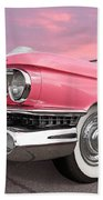 Pink Cadillac Sunset Bath Towel