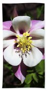 Pink Columbine Bath Towel