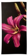 Pink Daylily Hand Towel