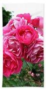 Pink Floribunda Roses Bath Towel