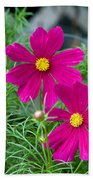 Pink Flower Bath Towel