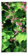 Pink Flowering Vine2 Bath Towel