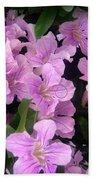 Pink Flowers. 6-22-17 Bath Towel