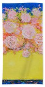 Pink Flowers Bath Towel