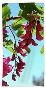 Pink Flowers Virginia City Nv Bath Towel