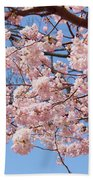 Pink Fluffy Branches Bath Towel