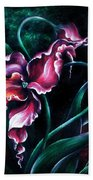 Pink Fuschia Orchid. Dance Of The Nature Bath Towel