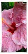 Pink Hibiscus Flower 1 Bath Towel