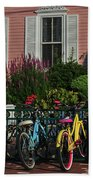 Pink House Bikes Cape May Nj Bath Towel