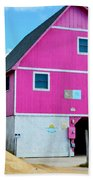 Pink House On The Beach 1 Bath Towel