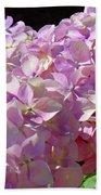 Pink Hydrangea Flower Floral Art Prints Baslee Troutman Bath Towel