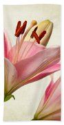 Pink Lilies Bath Towel