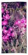 Pink Majestic Garden- Art By Linda Woods Bath Towel