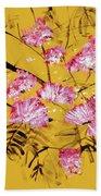 Pink Mimosa Tree Dark Yellow 201642 Bath Towel